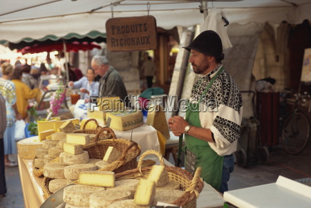 cheese stall at market annecy haute