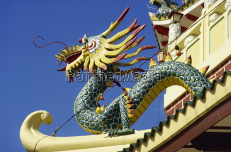 dragon decoration on the exterior of
