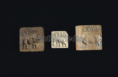seals, depicting, animals, from, the, indus - 20576291