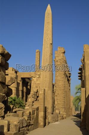 temple of karnak with obelisk of