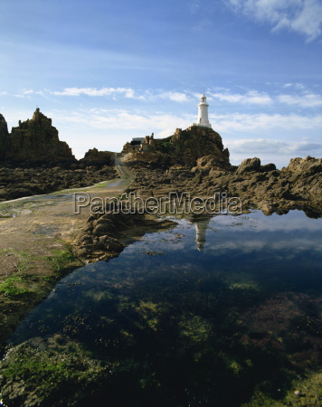 corbiere point lighthouse jersey channel islands