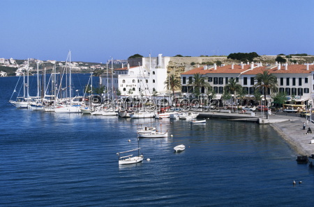 port and yacht harbour mahon menorca