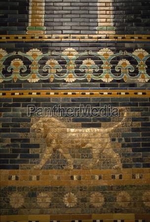 glasierte fliesen von nebukadnezars babylon pergamon