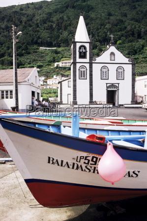 santa cruz church ribeiras island of