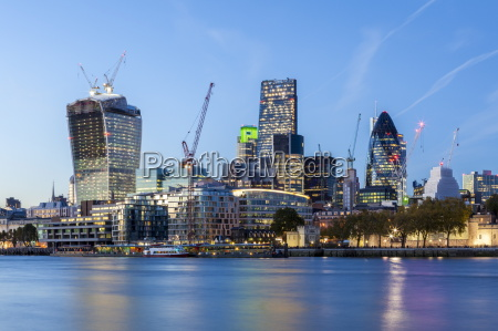 the city of london skyline with