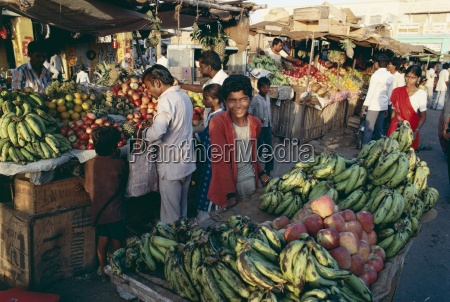 fruit including bananas for sale in