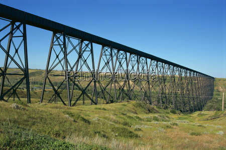 the iron trestle rail bridge at