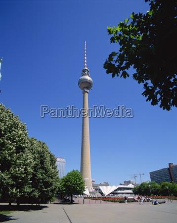 der tv tower berlin deutschland europa