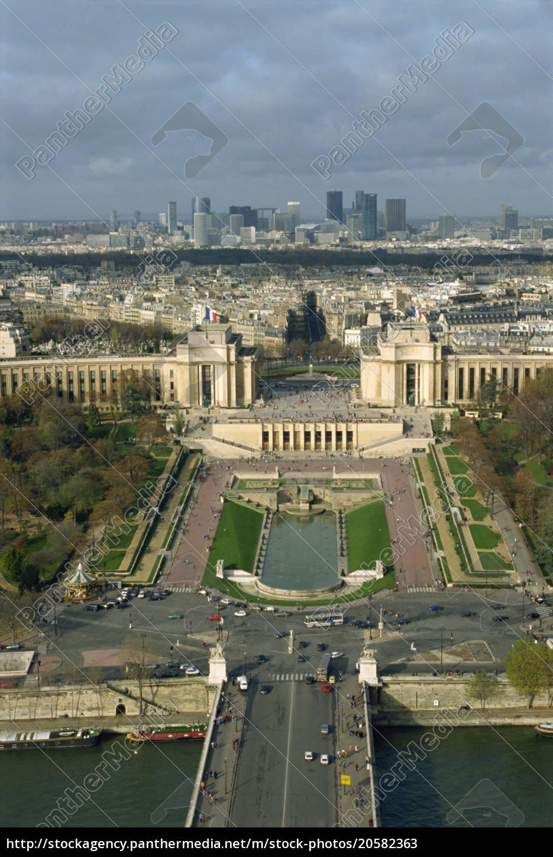blick, auf, paris, vom, eiffelturm, paris, frankreich, europa - 20582363