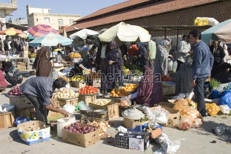 morning fruit and vegetable market bandar