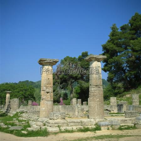 fahrt reisen tempel saeulen griechenland europa