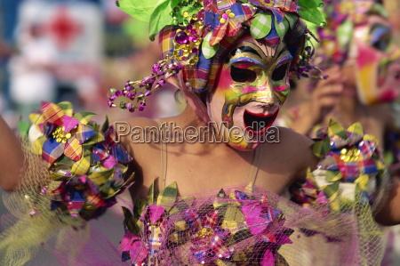 portrait of a masked dancer at