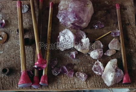 werkzeuge zum polieren von edelsteinen in