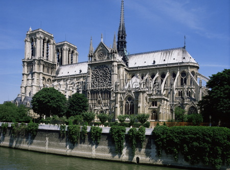 notre dame cathedral from the left