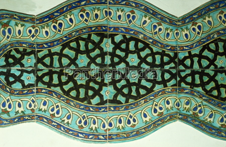ancient tiles in karatay medrese museum