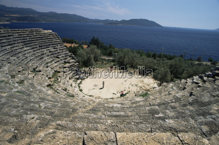 ancient theatre kas anatolia turkey asia