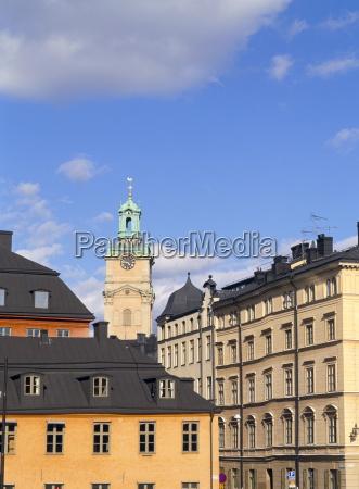 old buildings in gamla stan stockholms