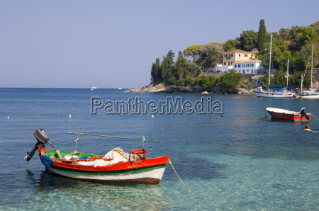 a colourful fishing boat in the