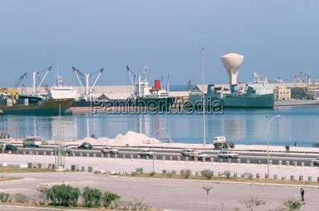 dockarea tripolis libyen nordafrika afrika