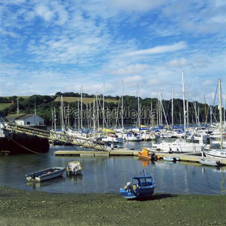mylor yacht marina falmouth cornwall england