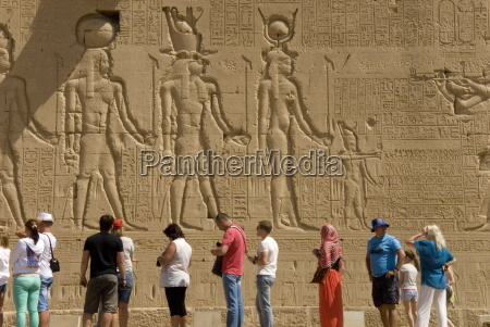carvings on the outside wall of