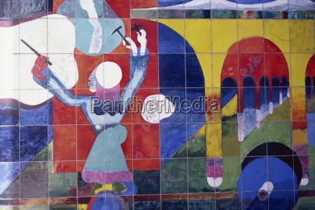 mural by beaujour la defense paris