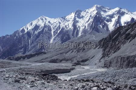 the karakorum karakoram highway on the