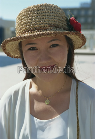 modern han chinese woman oil town