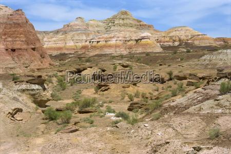 painted landscape in the gurbantinggut desert