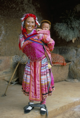 portrait of a miao girl with