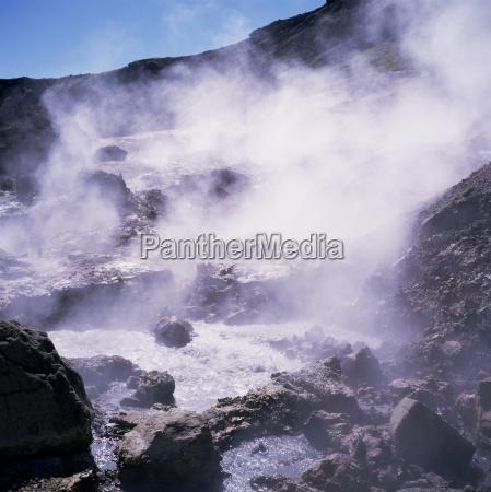 geothermal steam vents iceland polar regions