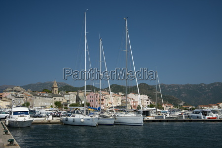 yachts in the harbour in st