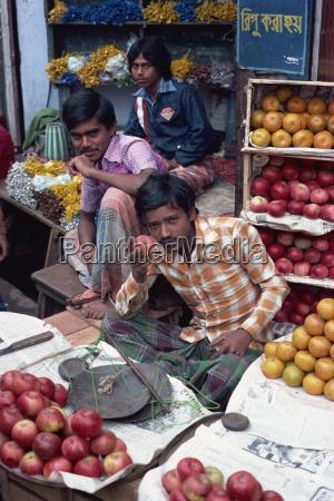 fruit stall bazaar dacca bangladesh asia