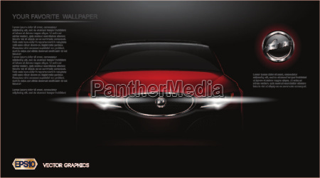 digital vector red modern sport car