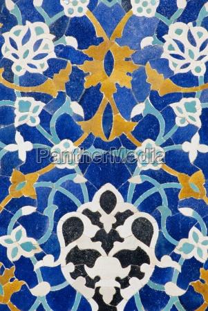ceramic detail on mir i arab