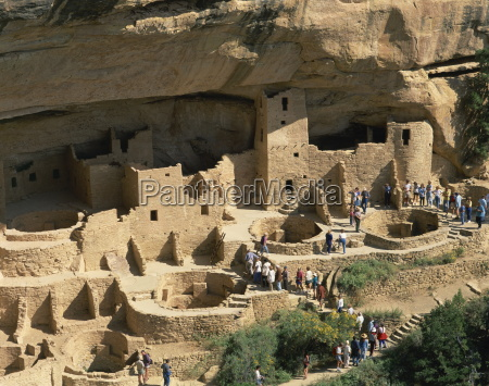 aerial view over the cliff palace