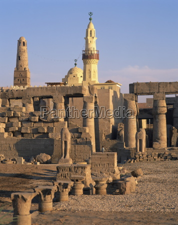 ruins of the luxor temple and