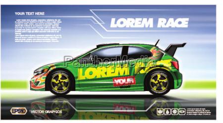 digital vector green 2 seats sedan