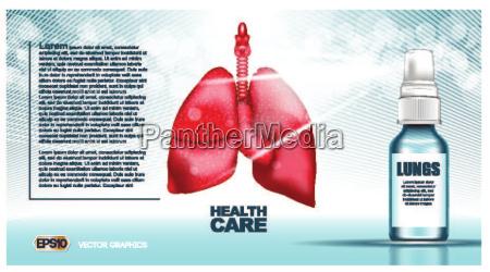 digitale vektor rote lungenstruktur infografiken