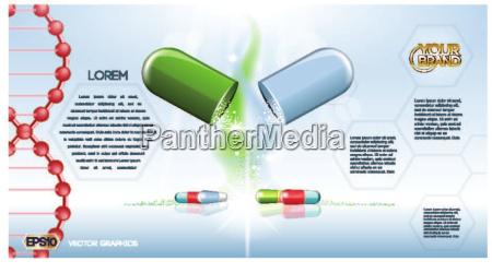 digital vector green and blue medicine