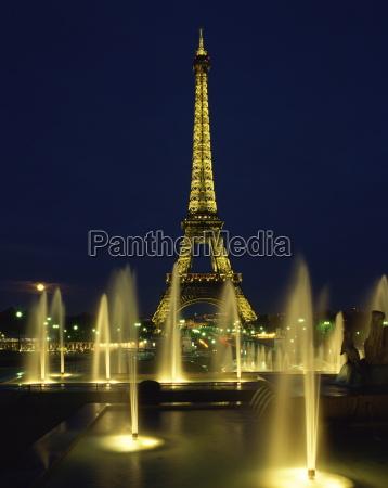 fahrt reisen nacht nachtzeit europa paris