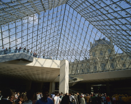 interior of the pyramide du louvre