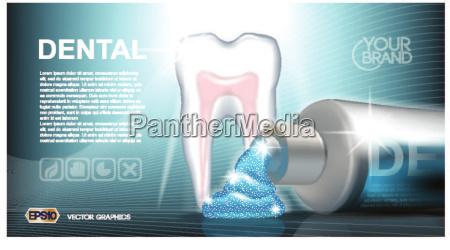 digitale, vektor, blaue, medizin, zahnpasta - 20602347