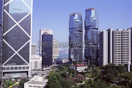 bank of china building on left