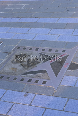 jackie chans star and hand prints