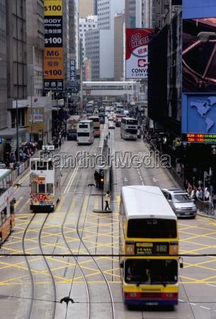 trams des voeux road central hong