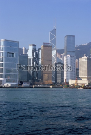 skyline central hong kong island hong