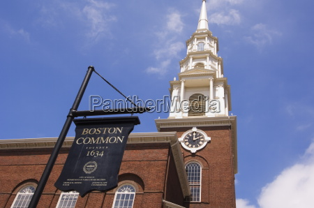 park street church and boston common