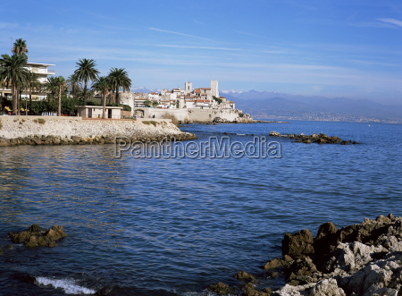 old walls and castle at antibes