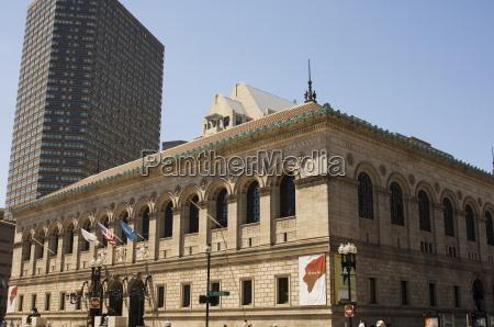 boston public library copley square boston